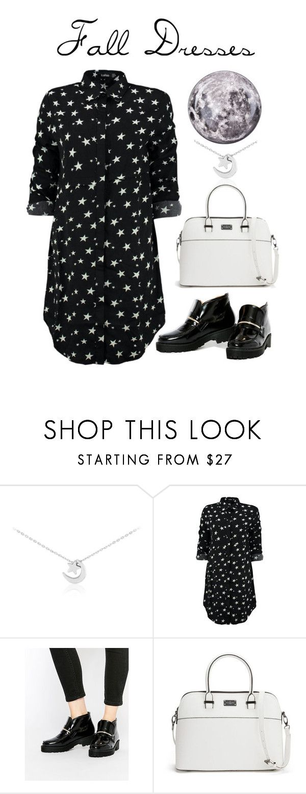 """falldress3"" by stylecamel ❤ liked on Polyvore featuring Boohoo, ASOS, Paul's Boutique, Seletti, stars, moon, starry, falldresses and loaferboots"