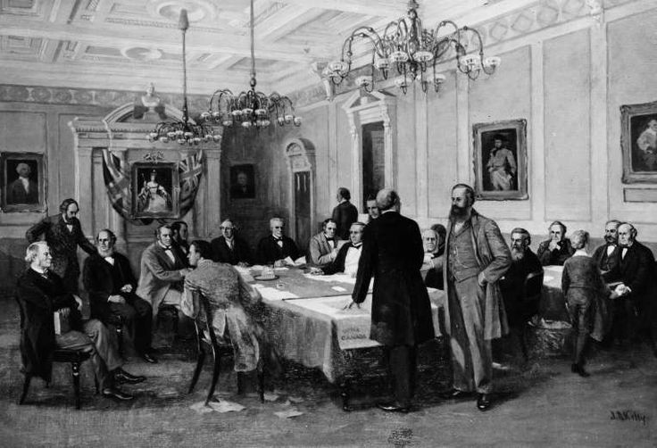 March 29,   1867: BRITISH NORTH AMERICA ACT  -    Britain's Parliament pass, and Queen Victoria signs the British North America Act, creating the Dominion of Canada, which came into being the following July.