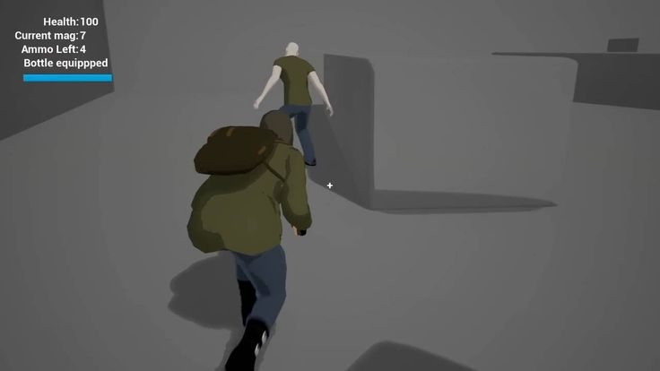 UE4 Third person stealth action zombie game prototype