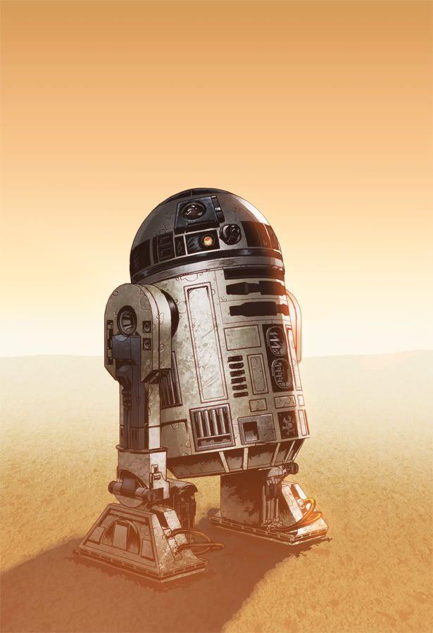 R2d2  by Eddy-Swan on deviantART #starwars #fanart