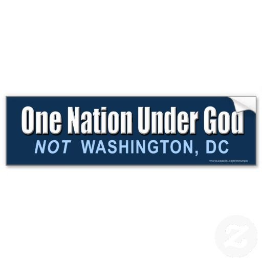 Anti obama one nation under god sticker political bumper