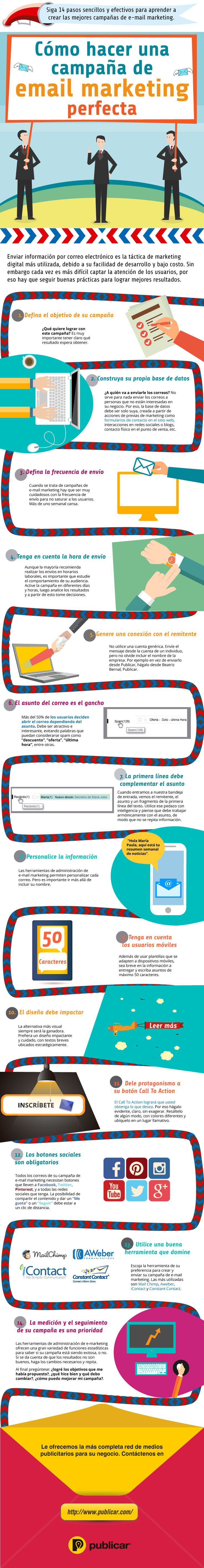 CÓMO HACER UNA CAMPAÑA DE EMAIL MARKETING PERFECTA #INFOGRAFIA #INFOGRAPHIC #MARKETING