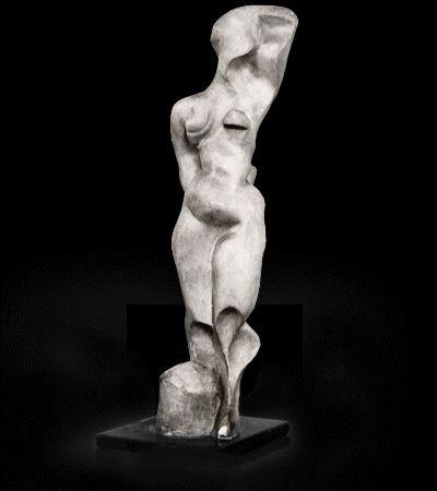 Akt stojący / Standing Nude 1948, gips / plaster, 47 x 14.5 x 10.5 cm, własność prywatna / private collection