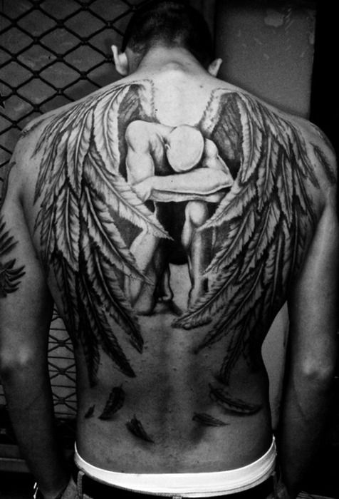 man with wings tattoo - Google Search