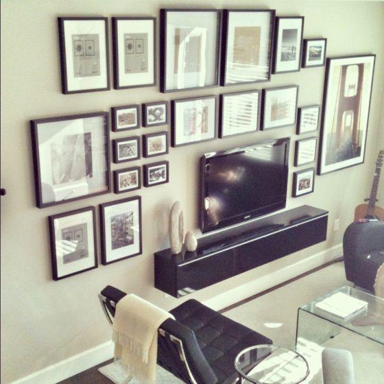 Best Wall Behind Tv Ideas On Pinterest Tv Gallery Walls Cup - Black wall behind tv