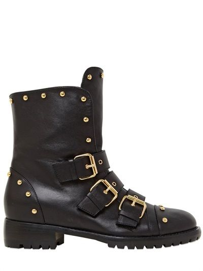 30mm Studded Nappa Leather Boots