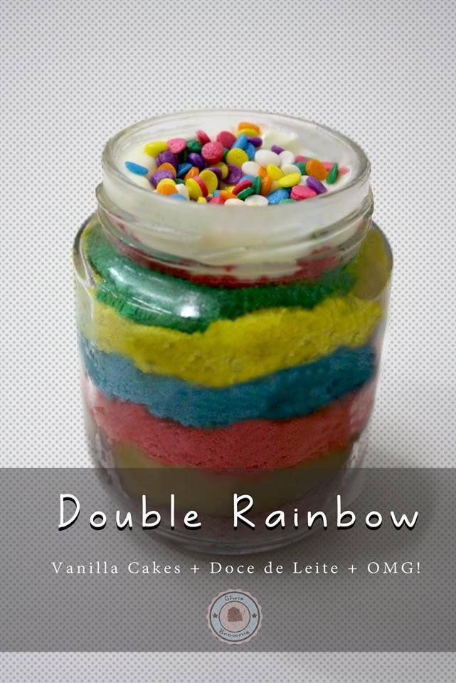Melhor que achar um pote de ouro no final do arco-íris, só mesmo uma jarrinha de Double Rainbow!  Venha me caçar em chrisbrownierj@gmail.com!