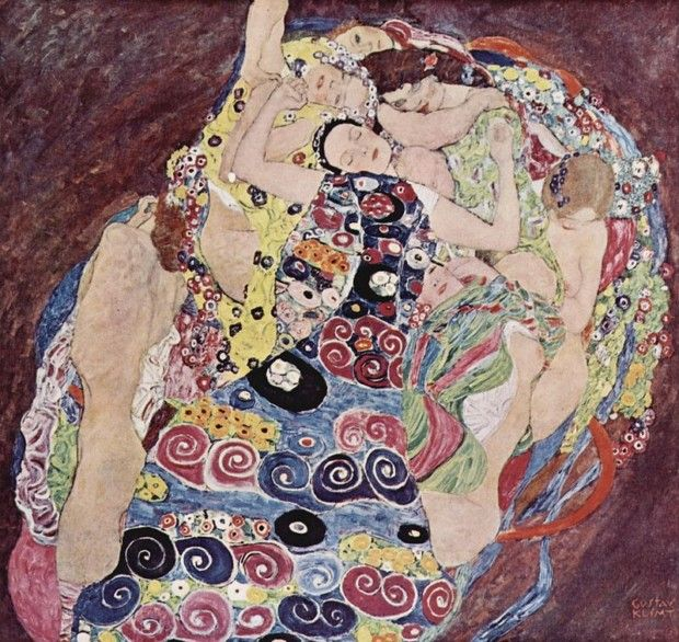 Gustav Klimt, The Maiden, 1913. Národni Galerie, Prague, esbianism in art