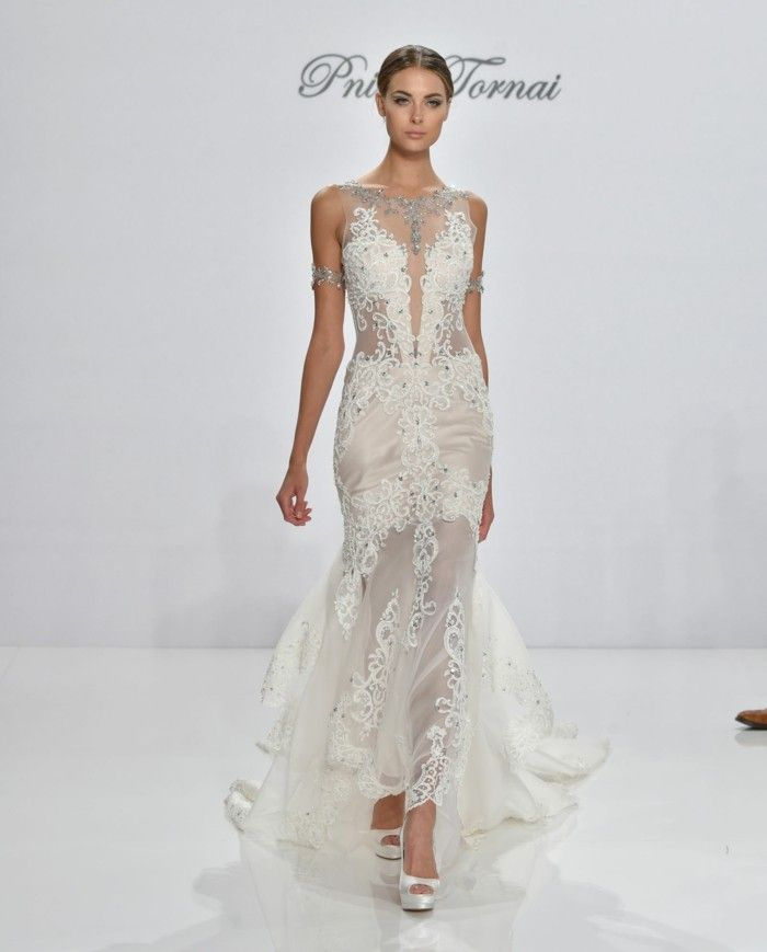 Wedding dresses with lace and stones