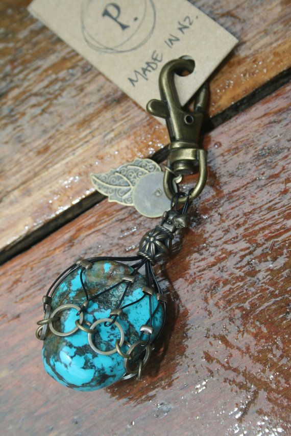 Turquoise Crystal Clip