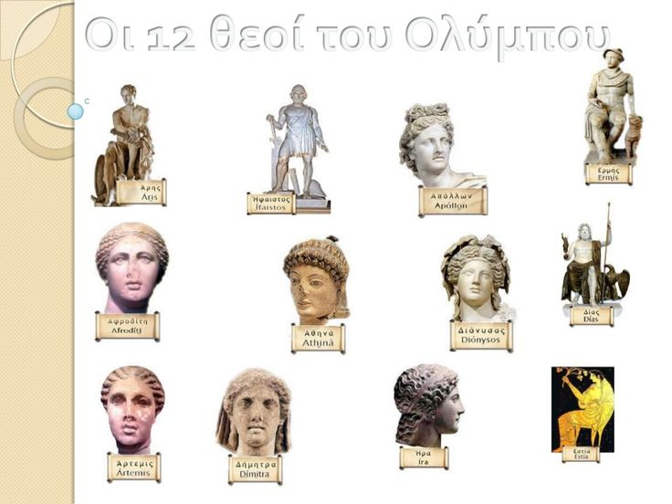12 θεοί του Ολύμπου by θεόδωρος Ιωαννίδης via slideshare