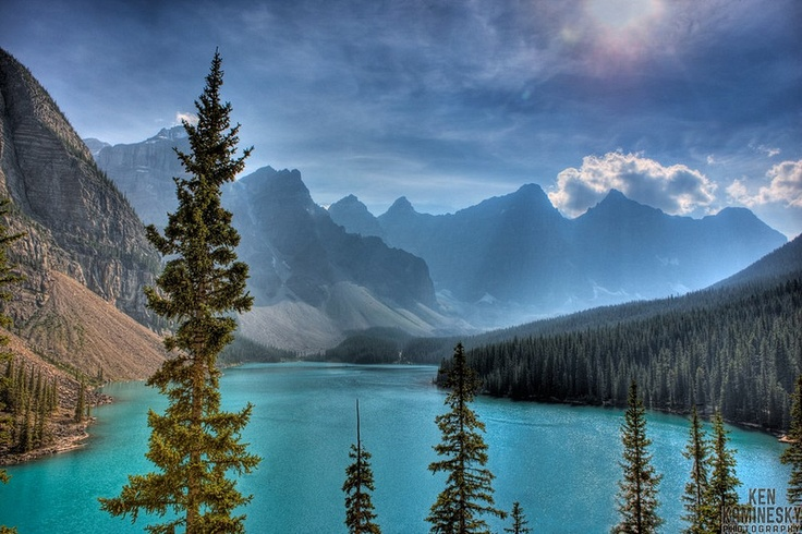 Moraine Lake is a glacially-fed lake in Banff National Park: Lakes Louis, Alberta Canada, Glacially F Lakes, Places I D, Lakes Morain, Lakes Banff National, Morain Lakes Banff, Photography Blog, Banff National Parks