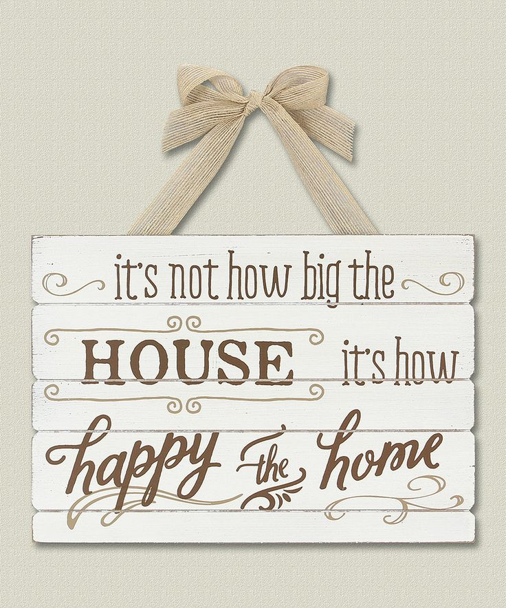 Take a look at this 'Happy the Home' Wall Sign today!