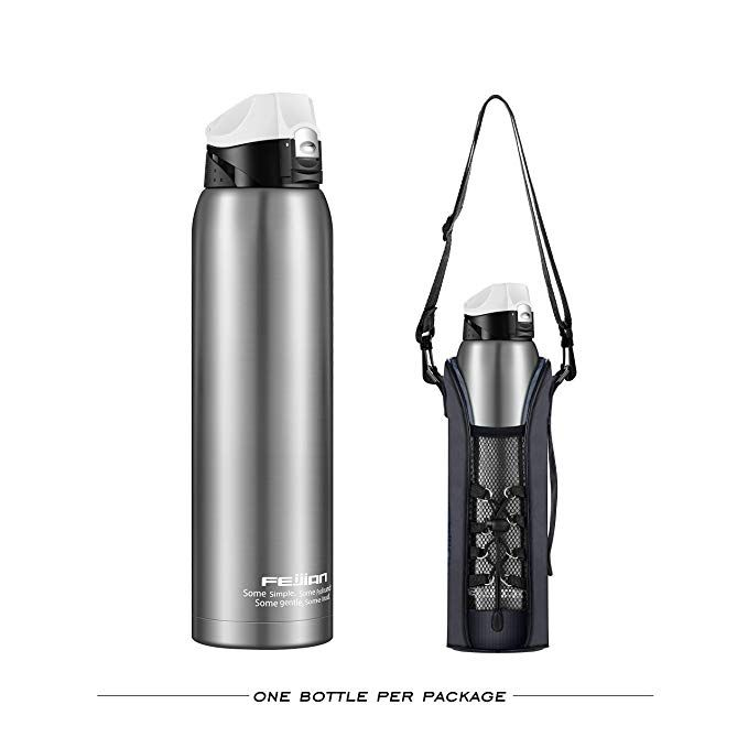 Stainless Steel Insulated Water Bottle With A Free Bag 36 Oz 52 Oz Feijian Double Walled Vacuum Men 1 Li Insulated Water Bottle Thermos Bottle Water Bottle