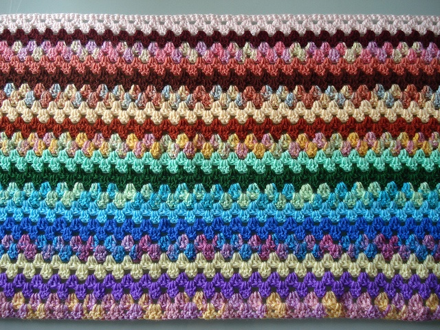 Crochet Patterns Multicolor Yarn : 101 best images about Crochet Afghans without Motifs on ...