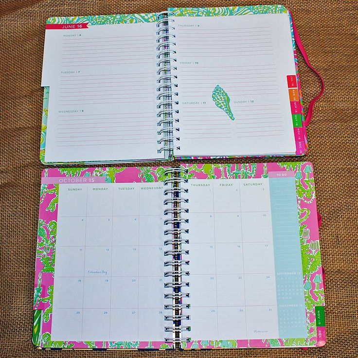 Plan Pretty With Lilly Pulitzer Agendas. 17 Months 2015 2016 Beautiful  Artwork Throughout