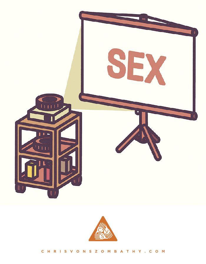 Sex Machine, an illustration by artist/designer Chris von Szombathy.