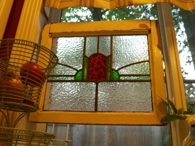Stained Glass Window Over Kitchen Sink. Absolutely Perfect.