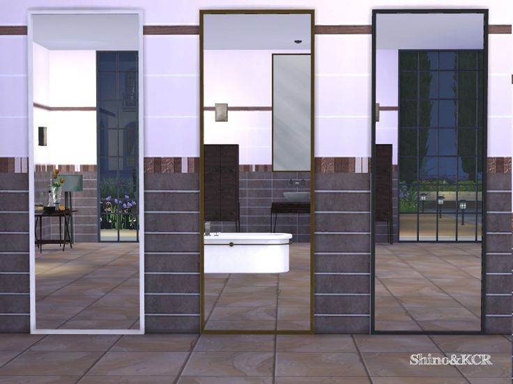 Contemporary Furniture Set for a Bathroom inspired by the Designer JeanLouisDeniot  Found in TSR Category 'Sims 4 Mirrors'