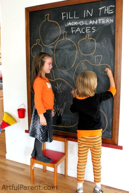 Fill in the Jack-O-Lantern Faces -- A fun Halloween activity for Kids!