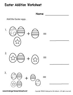 Free Kindergarten Easter Worksheets - Wonderful activities for your Easter party.