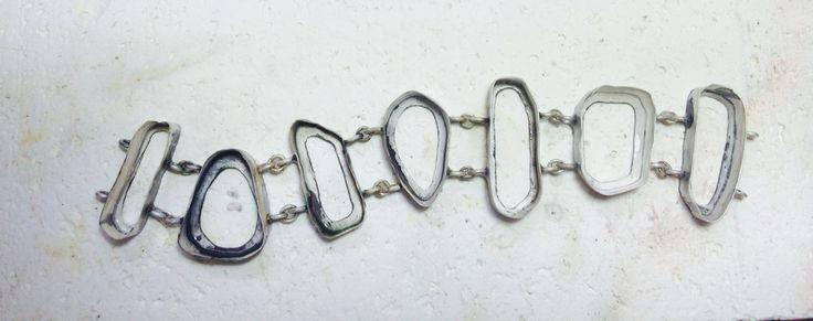 Estructura en plata para pulsera
