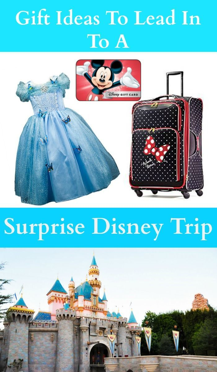 These gift ideas are the perfect lead in to a surprise Disney Trip!  via @thebeccarobins