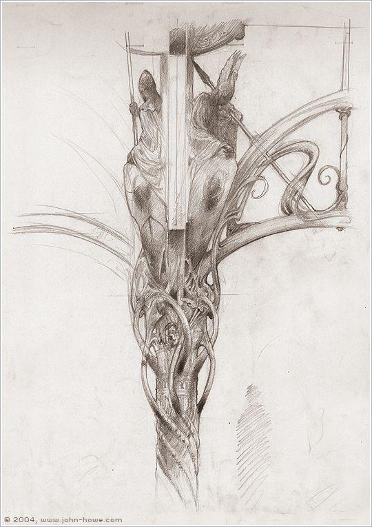 Rivendell - Architectural Elements ~ John Howe
