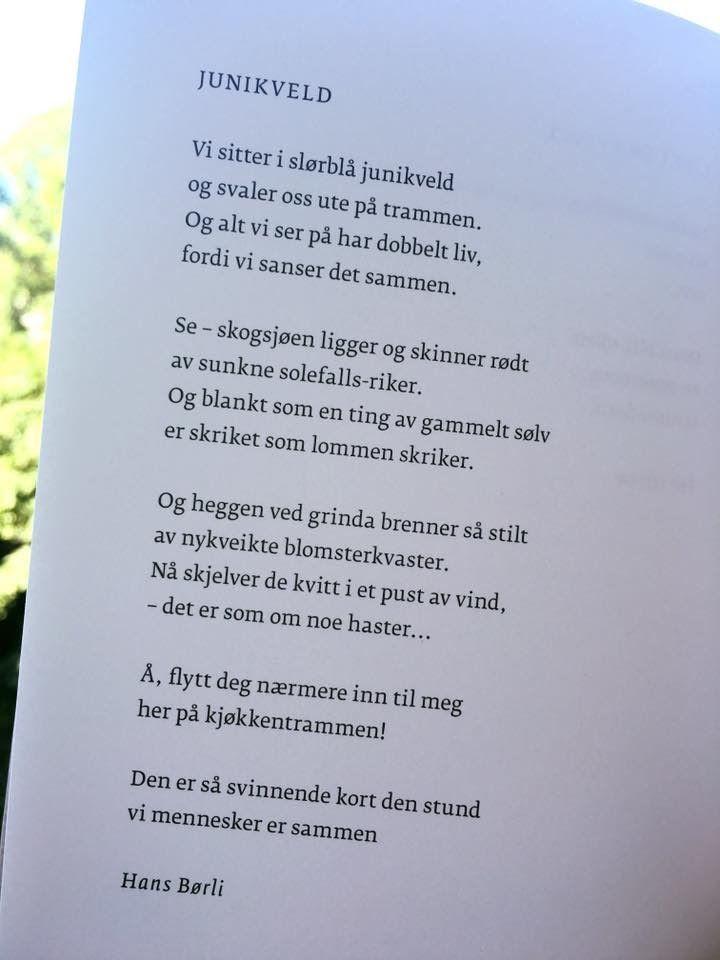 ~Junikveld~ Hans Børli