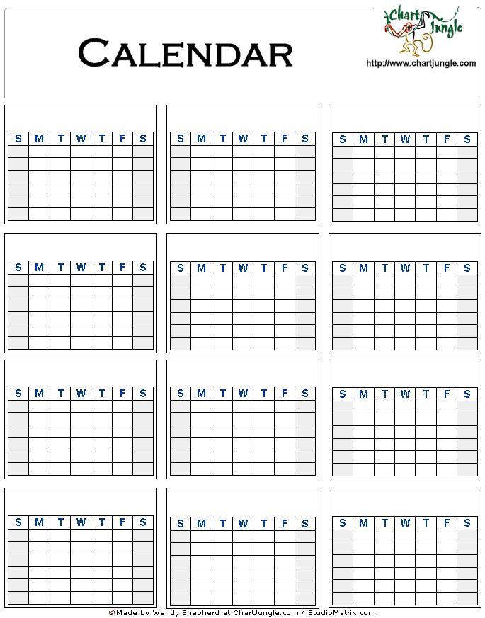 Blank Calendar Events : Best blank calendar template ideas only on pinterest