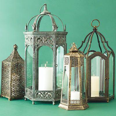 metal candle lanterns