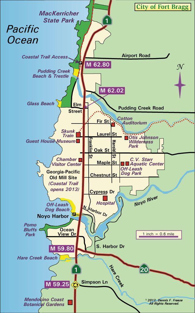 City of Fort Bragg, CA Map