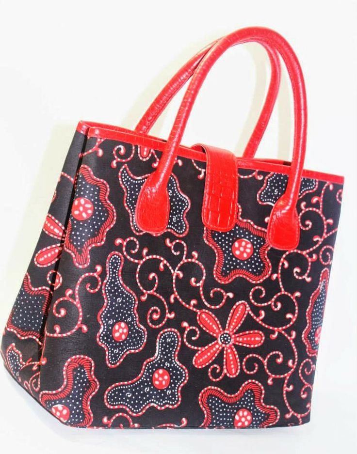 Batik Ria: Batik mix red cow leather - IDR 850.000