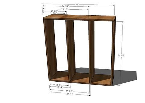 how to build a cubby bookcase