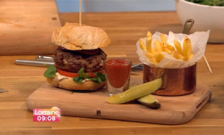 Food | Recipes | Dinner | The Juicy Lucy Burger | Chips | Lorraine Food