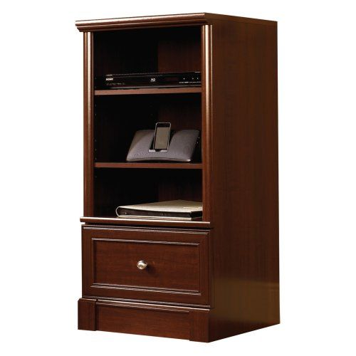 Sauder Palladia Technology Pier   Select Cherry   Media Storage At Hayneedle