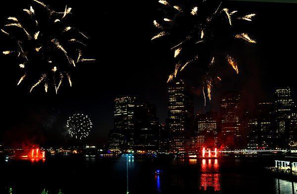 Fireworks over Manhattan.  Diane Greene Lent