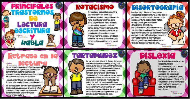 Principales trastornos de la lectura, la escritura y el habla - Imagenes Educativas