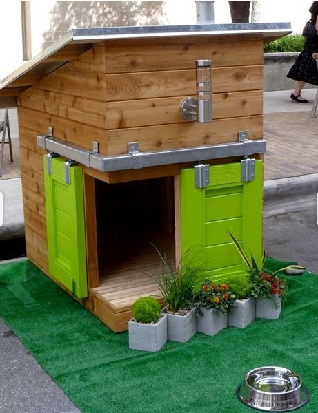 Cool dog houses.
