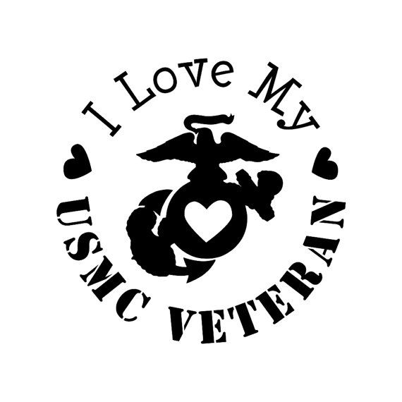 Download This decal reads, I love my USMC Veteran. Made from ...