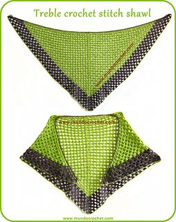 It's made using only two stitches: chain and treble crochet. It´s very easy and fast to crochet.
