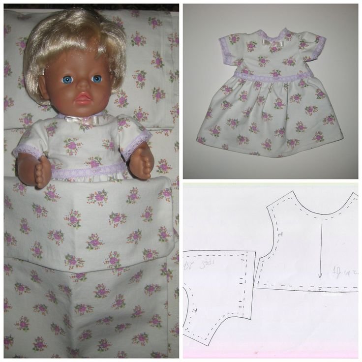 17 Best images about Free sewing patterns for Baby Born on