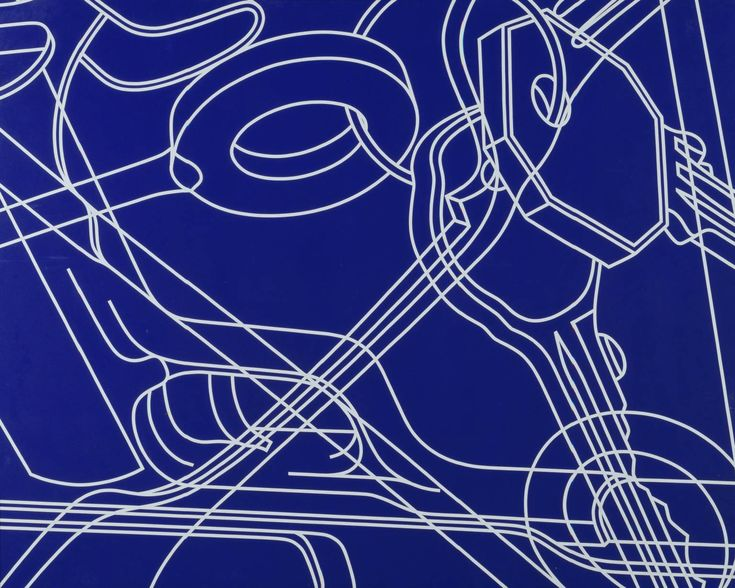 Line drawing layering everyday objects by Michael Craig Martin