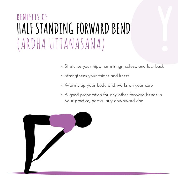 Ardha = half, Ut = intense, Tan = to stretch, Asana = pose Your body will lengthen and strengthen with time and practice, so don't overdo it by pushing too hard. And as always, you'll get a deeper stretch if you relax more in the pose. #yogibenefits
