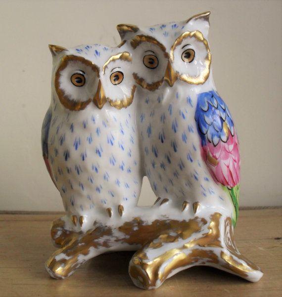 OWL Figurine Vista Alegre Portugal HAND by BigGirlSmallWorld