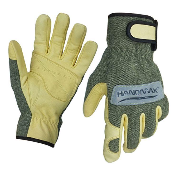 HandMax KW1 Lasmid/Goat Leather Heat/Cut Resistatant Multi Purpose Work Gloves #HandMax