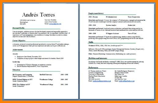 Two Page Resume Examples.Can A Resume Be Two Pages Best Resume Collection Best