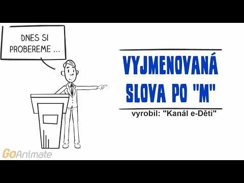 Vyjmenovaná slova po M Animované výukové HD video - YouTube