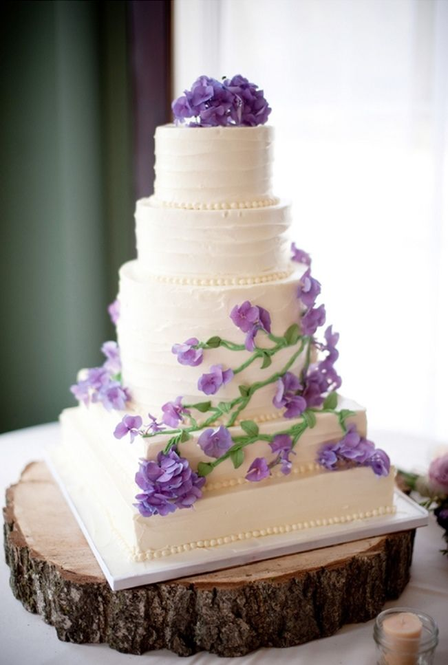 Sweet Violet Bride - http://sweetvioletbride.com/2013/03/rustic-green-purple-wedding-from-garden-party/