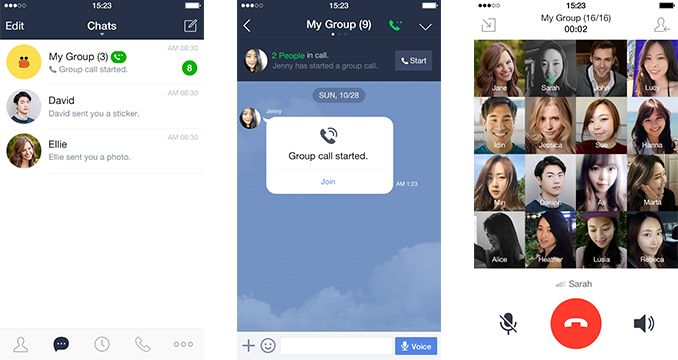 Messaging app Line now lets you host group calls with up to 200 friends | TechCrunch